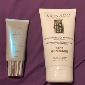 PUR primer and SKIN &CO Romaface gommage